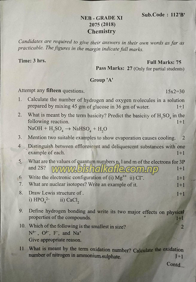 By B Hints    See Question Paper 2075