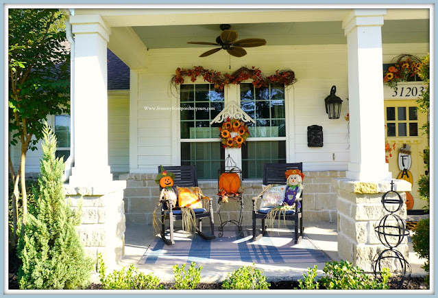 Farmhouse Cottage Style Fall Front Porch-Rocking Chairs-From My Front Porch To Yours