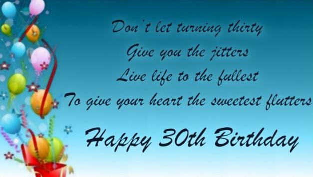 Happy 30th Birthday Wishes - Inspirational 30th Birthday Wishes