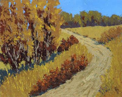 art painting landscape autumn fall texture