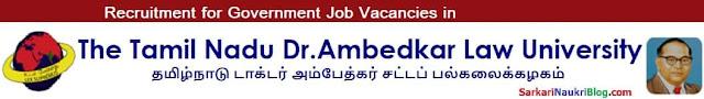 TNDALU Chennai Job vacancy