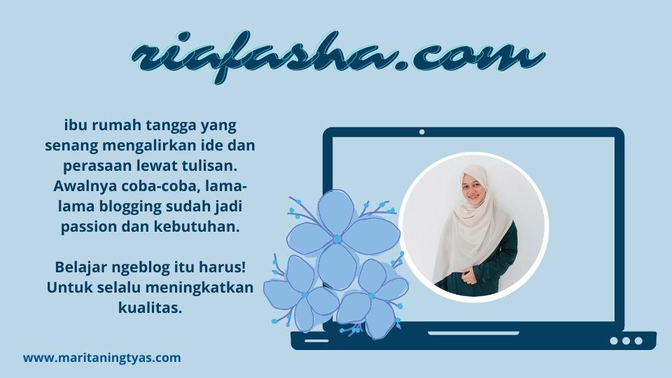 profil mbak ria fasha