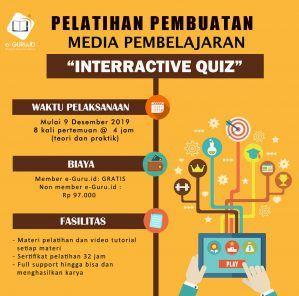 Pelatihan Online Pembuatan  Media Pembelajaran Interractive Quiz