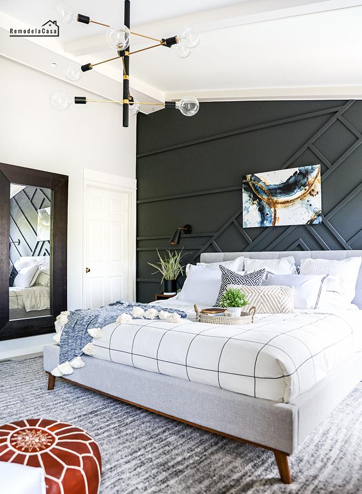 geometric wall design on wall