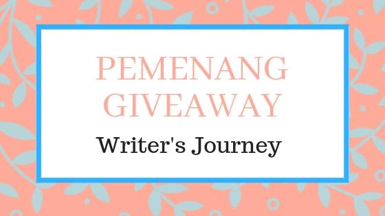 pemenang giveaway writer's journey