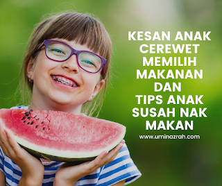 Kesan Anak Cerewet Memilih Makanan dan Tips Anak Susah Nak Makan