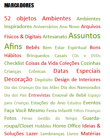 Tags do blog em 2014