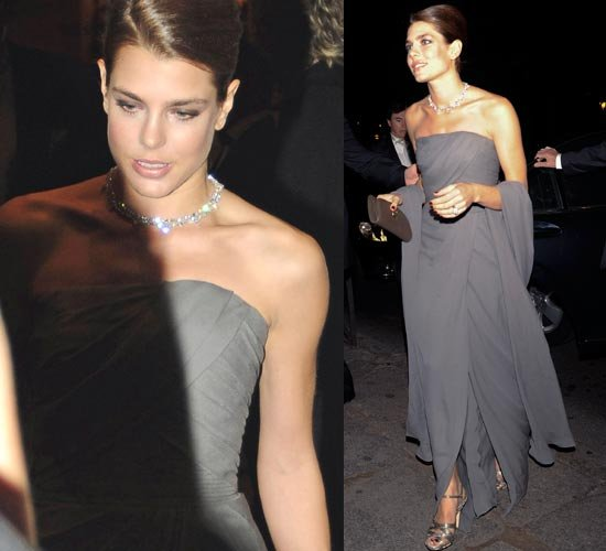 Charlotte Casiraghi wears ELIE SAAB Fall Winter 2012-13 collection at Cartier Exhibition in Madrid. Elie Saab is a Lebanese fashion designer