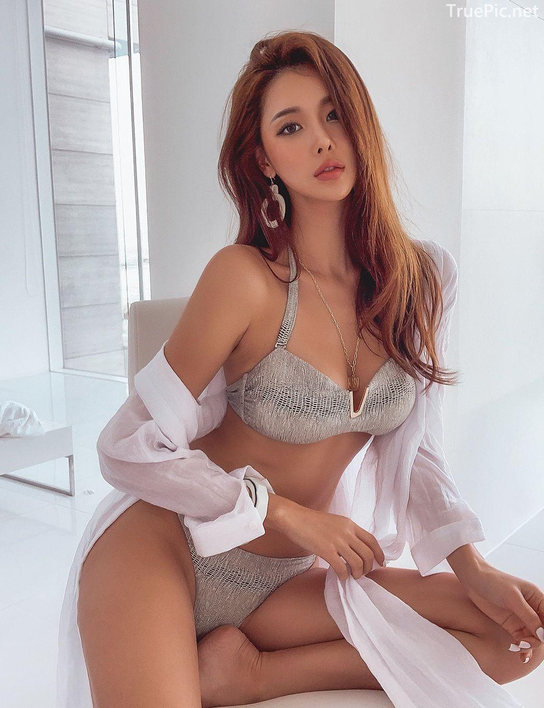 Korean lingerie queen - Park Da Hyun - Chloe python Bikini - Picture 3
