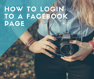 how to login to a facebook page