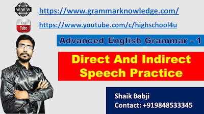 Direct And Indirect Speech Practice