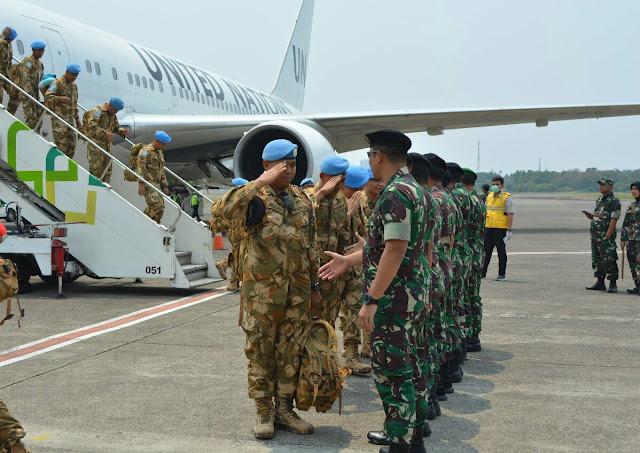 Dan PMPP Terima Kedatangan Satgas Kizi TNI Konga XXXVII E/Minusca CAR