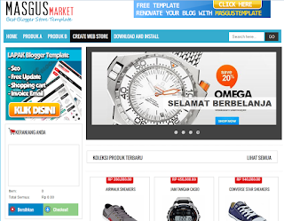 Masgus Market Ecommerce Blogger Template