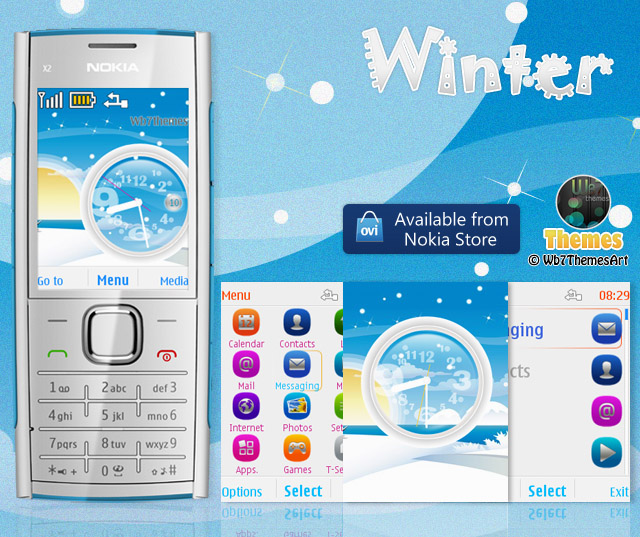 Winter Theme for Nokia X2-00 s406th I Free | Download