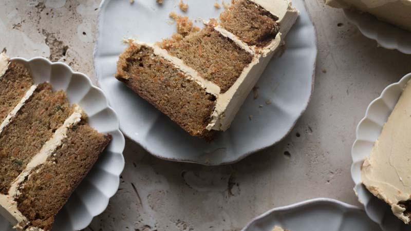 Caramel Mousseline Carrot Cake