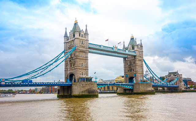 View of the Tower Bridge from the Tower of London - London, England