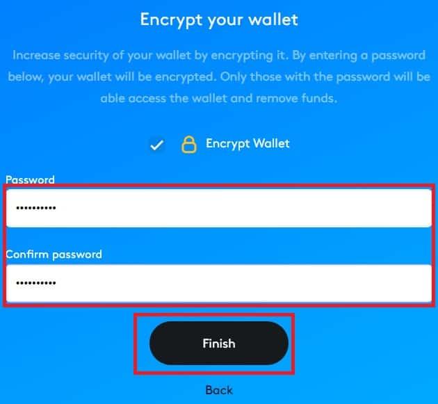 Contraseña Wallet Skycoin (SKY)