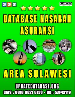 Jual Database Nasabah Asuransi Sulawesi