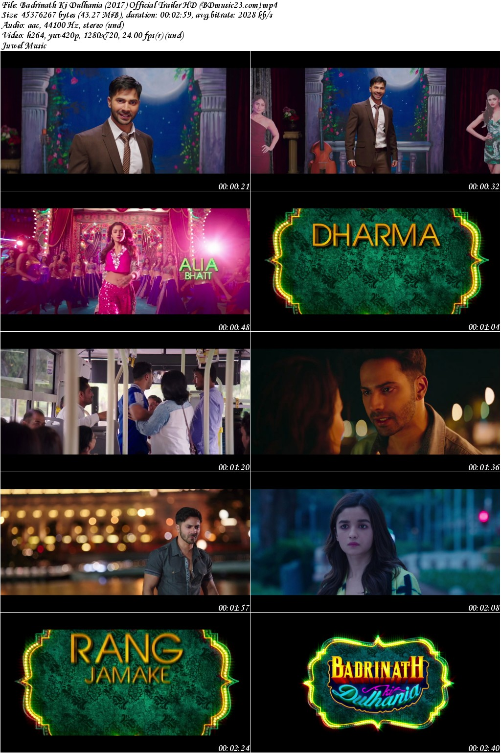 badrinath ki dulhania full movie free download 720p