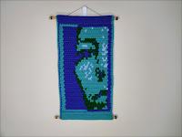 Wondering Abstract Portrait Fine Art Tapestry by Jen Ten Art