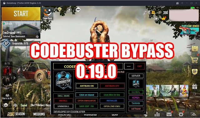 CODEBUSTER BYPASS 0.19.0 | PUBG MOBILE EMULATOR BYPASS GAMELOOP 0.19.0 | EMULATOR SAFE BYPASS