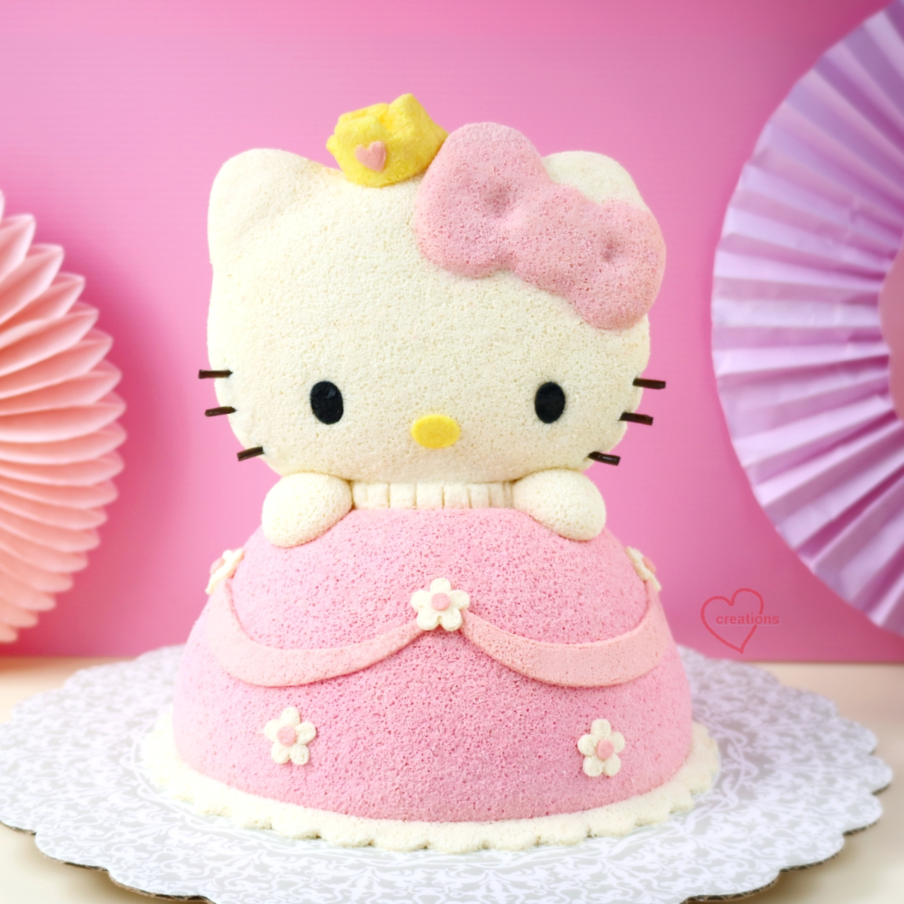 First Birthday Hello Kitty Cake