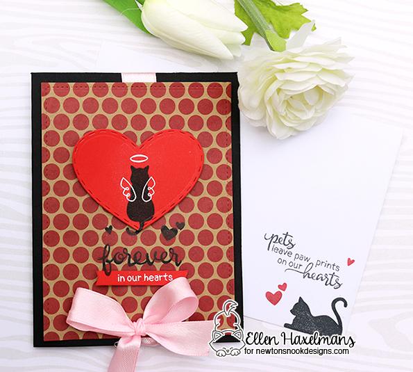 Cat Sympathy cards by Ellen Haxelmans | Furr-ever Friends | Dog and Cat Sympathy Stamp Set by Newton's Nook Designs #newtonsnook