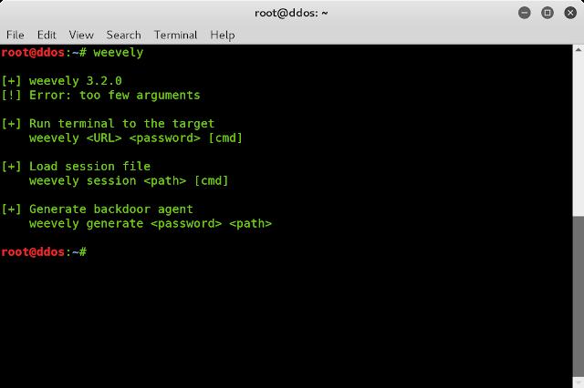 Backdoor dan Deface Web Server Menggunakan Weevely