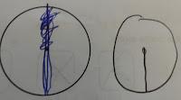 schoolkid maths fail scribbled radius