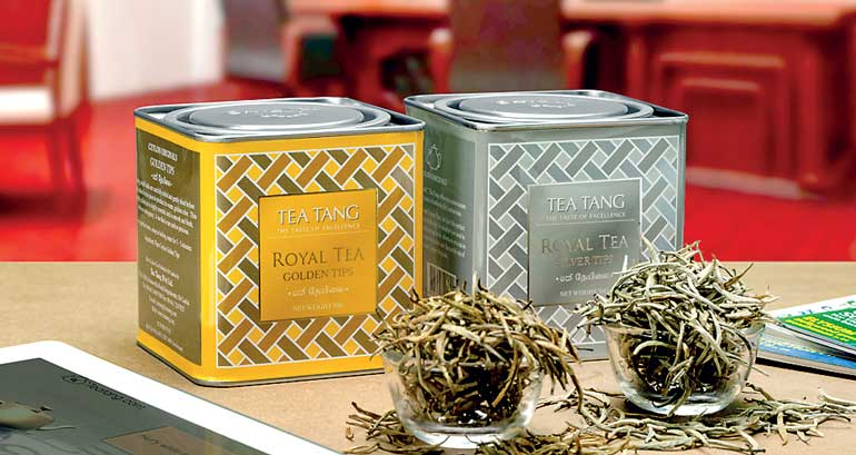 Tea Tang Royal tea Golden tips and Silver tips Metal can Gift Pack  EMS 3-5 Days World wide Delivery