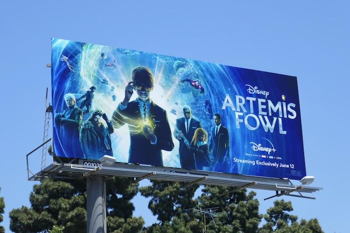 Artemis Fowl movie billboard