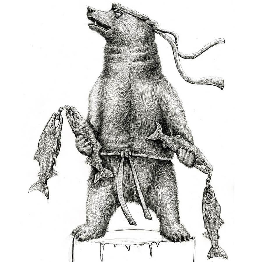 01-Martial-Arts-Bear-Tim-Andraka-www-designstack-co