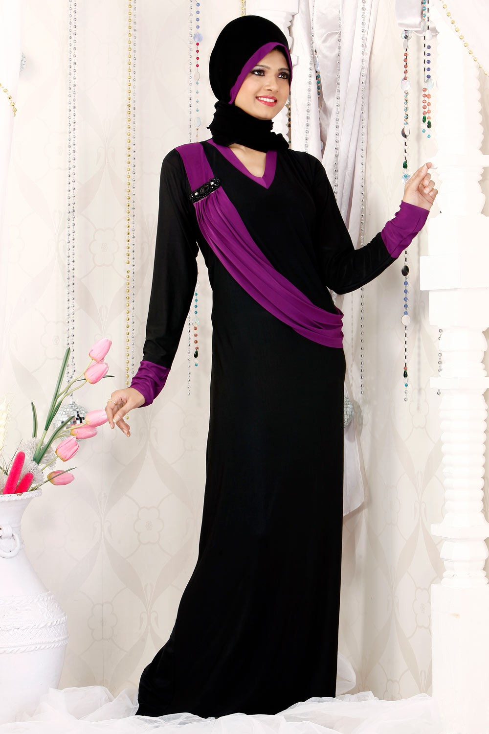 Elegant Modern Hijab Styles and Abaya Fashion 2017 for Girls - Stylish Clothes for Women