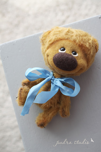 artist teddy bear, mohair teddy bear, collectible teddy bear