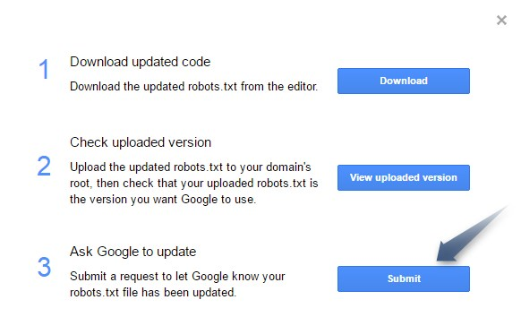 Submit robots.txt file to Google Step5