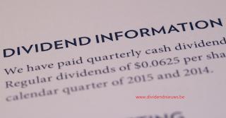 aandeel Tubize dividend 2020