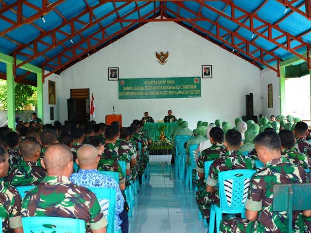 Endro Satoto Kunjungi Kodim Tidore Kepulauan