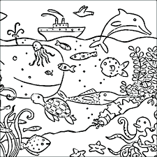 Printable Dolphin Habitat Coloring Book