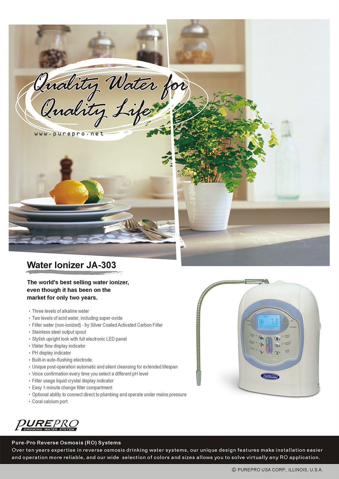 PurePro USA Water Ionizer JA-303
