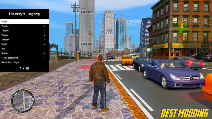 GTA IV Crazy Cheat Menu Trainer Download | Liberty's Legacy | GTA 4 Mods