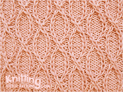 Crossed Loops Knitting Stitch Patterns