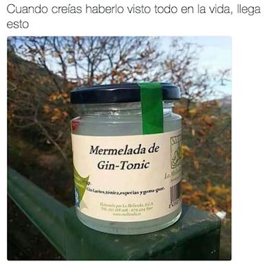 Mermelada de gin tonic, un gintonic para comérselo