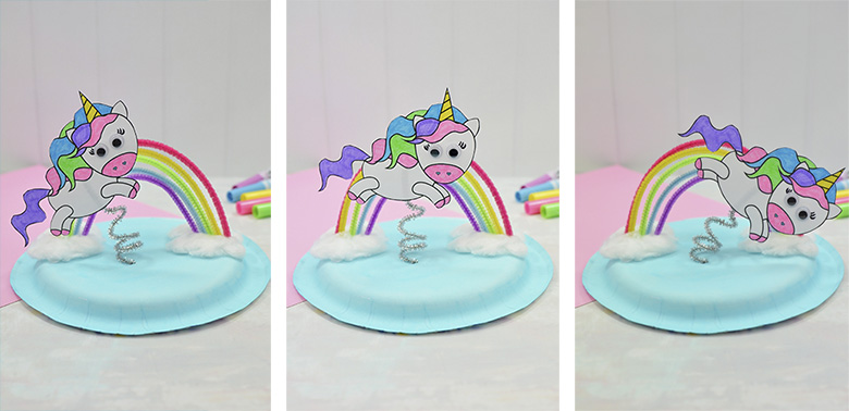 flying unicorn craft for preschoolers with printable unicorn template