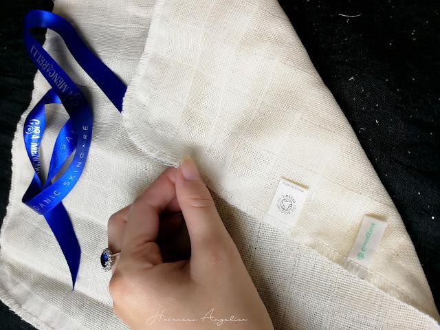 panno cotone bio per la rimozione del make-up