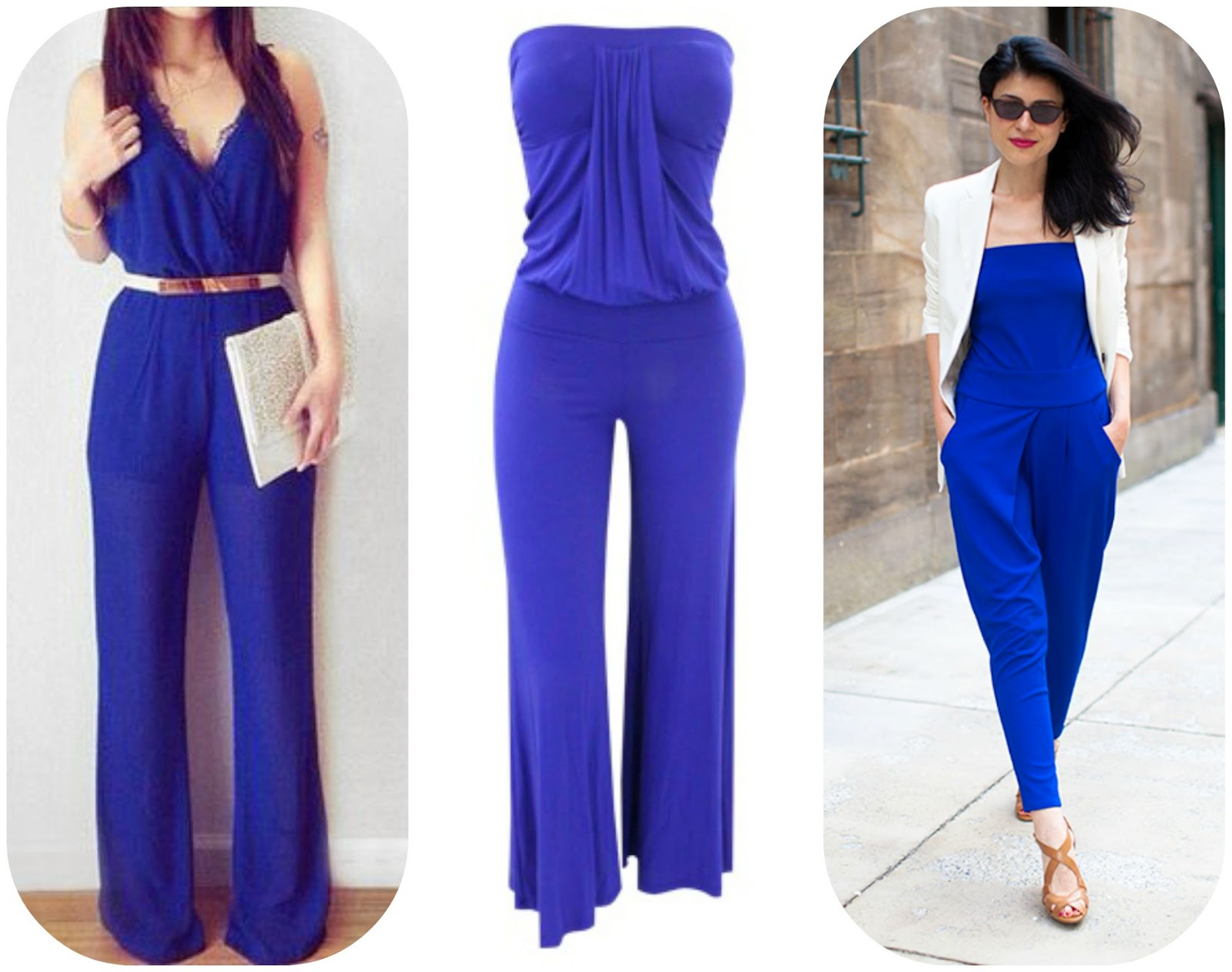 How to wear blue jumpsuit, how to style blue jumpsuit, blue fashion style