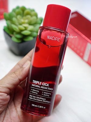Review Nacific Triple Cica Natural Mucin Toner