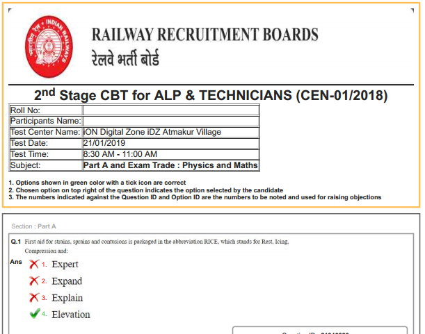 Railway Exam Question Paper With Answer Pdf