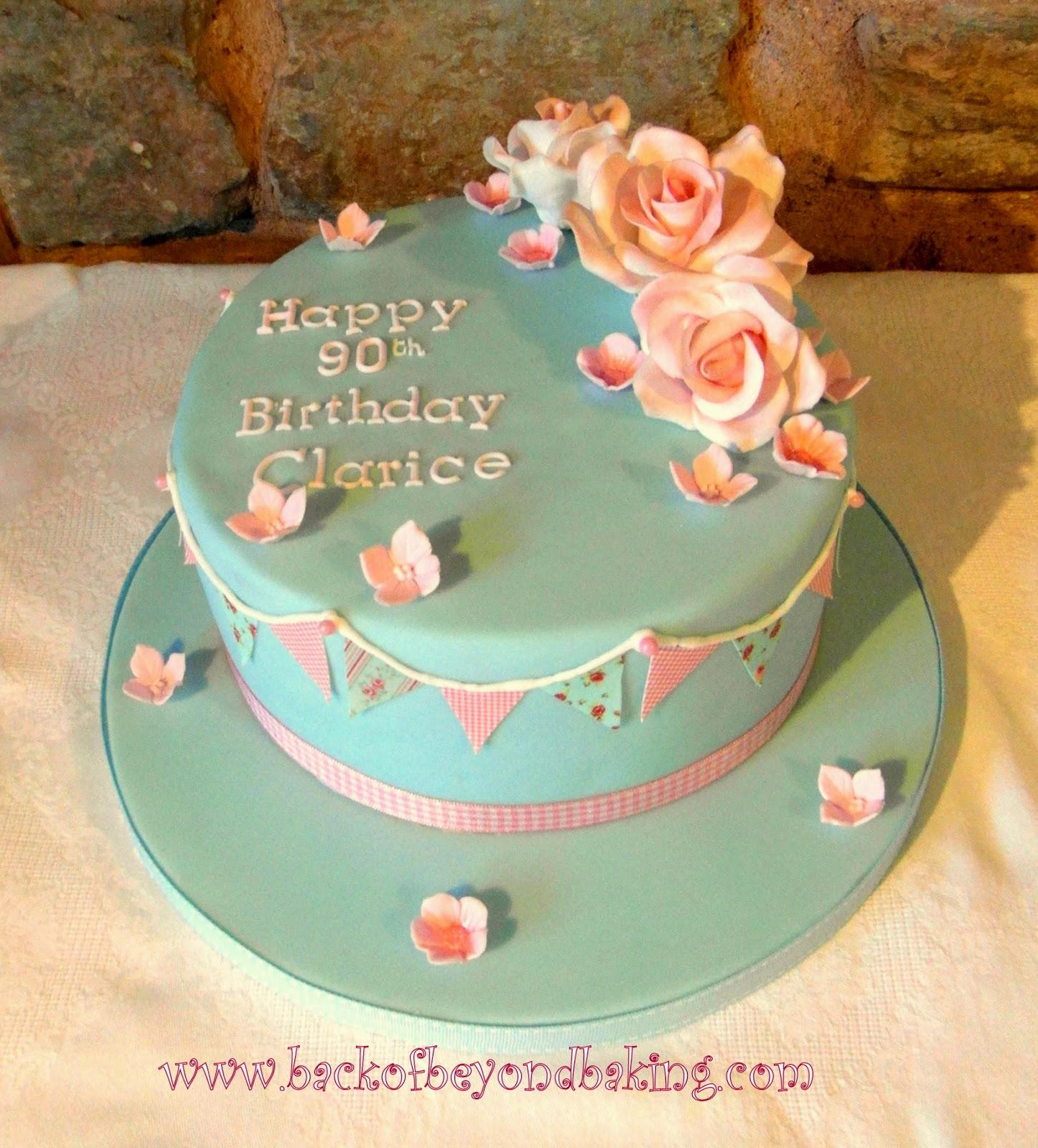 bunting birthday cake