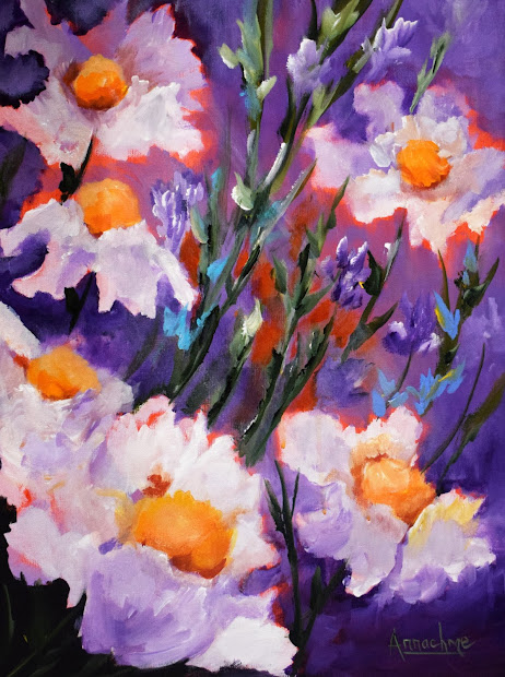 Contemporary Flower Art Paintings
