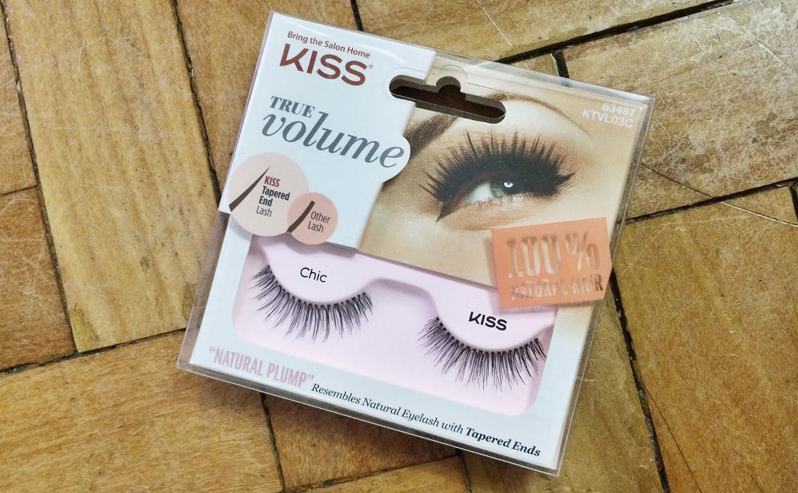 623e8b9a6e3 KISS True Volume Lashes Chic Review When it comes to false eyelashes ...